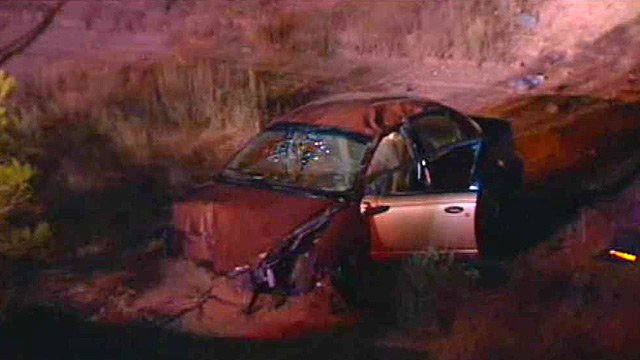 (Source: CBS 5 News) A 20-year-old woman escaped serious injury after the car she was driving ended up in a dry West Valley canal Thursday night.