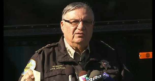 Maricopa County Sheriff Joe Arpaio during his news conference Wednesday on his school safety program.