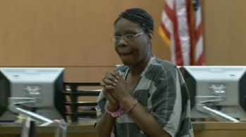 Jerice Hunter makes court appearance in Phoenix on Tuesday morning.