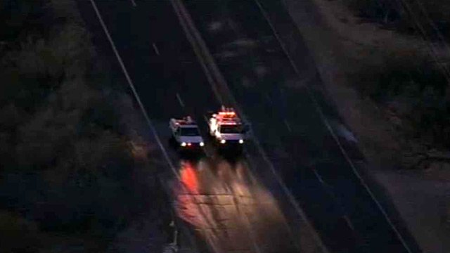 (Source: CBS 5 News) Scottsdale Road between Ashler Hills Drive to Lone Mountain Road was closed in both directions Wednesday morning due to ice on the road.