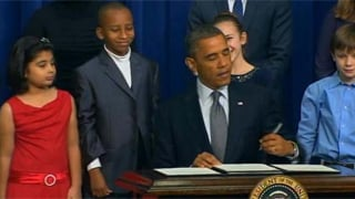 President Barack Obama signed an executive order to curb gun violence on Wednesday. (Source: CNN)