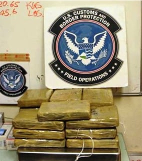 Here's a look at the drugs confiscated. (Source: U.S. Customs and Border Protection)
