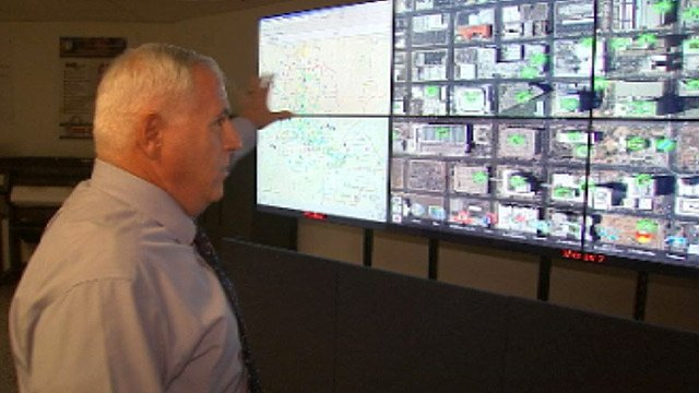 (Source: CBS 5 News) Capt. Fred Zumbo shows some of the technology used inside ACTIC.