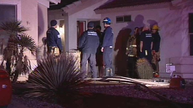 (Source: CBS 5 News) Avondale firefighters said a malfunctioning clothes dryer started the fire that spread into the attic.