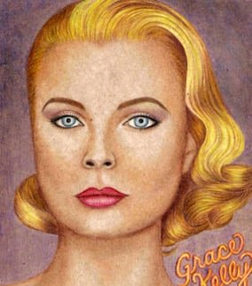 Drawing of Grace Kelly created by Jodi Arias. (Source: eBay)