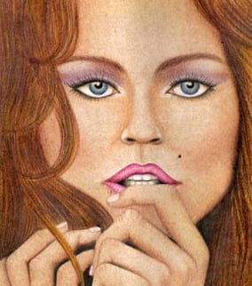 Drawing of a model created by Jodi Arias. (Source: eBay)