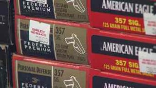 Employees say ammo is selling so fast they've put a limit on how much a person can buy in one day.