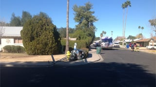 The scene is near Stapley and University.