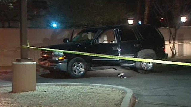 (Source: CBS 5 News) A man who was shot during an attempted carjacking Wednesday night drove himself to a south Phoenix police precinct for help.