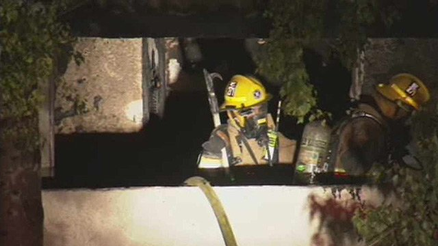 (Source: CBS 5 News) Tempe firefighters said one apartment was destroyed by fire early Thursday morning at 171 S. Dorsey Lane.