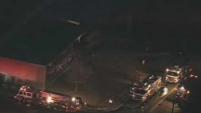 (Source: CBS 5 News) The fire started on the bottom floor of the older apartment complex about 7 a.m. and trapped residents on the upper floor.