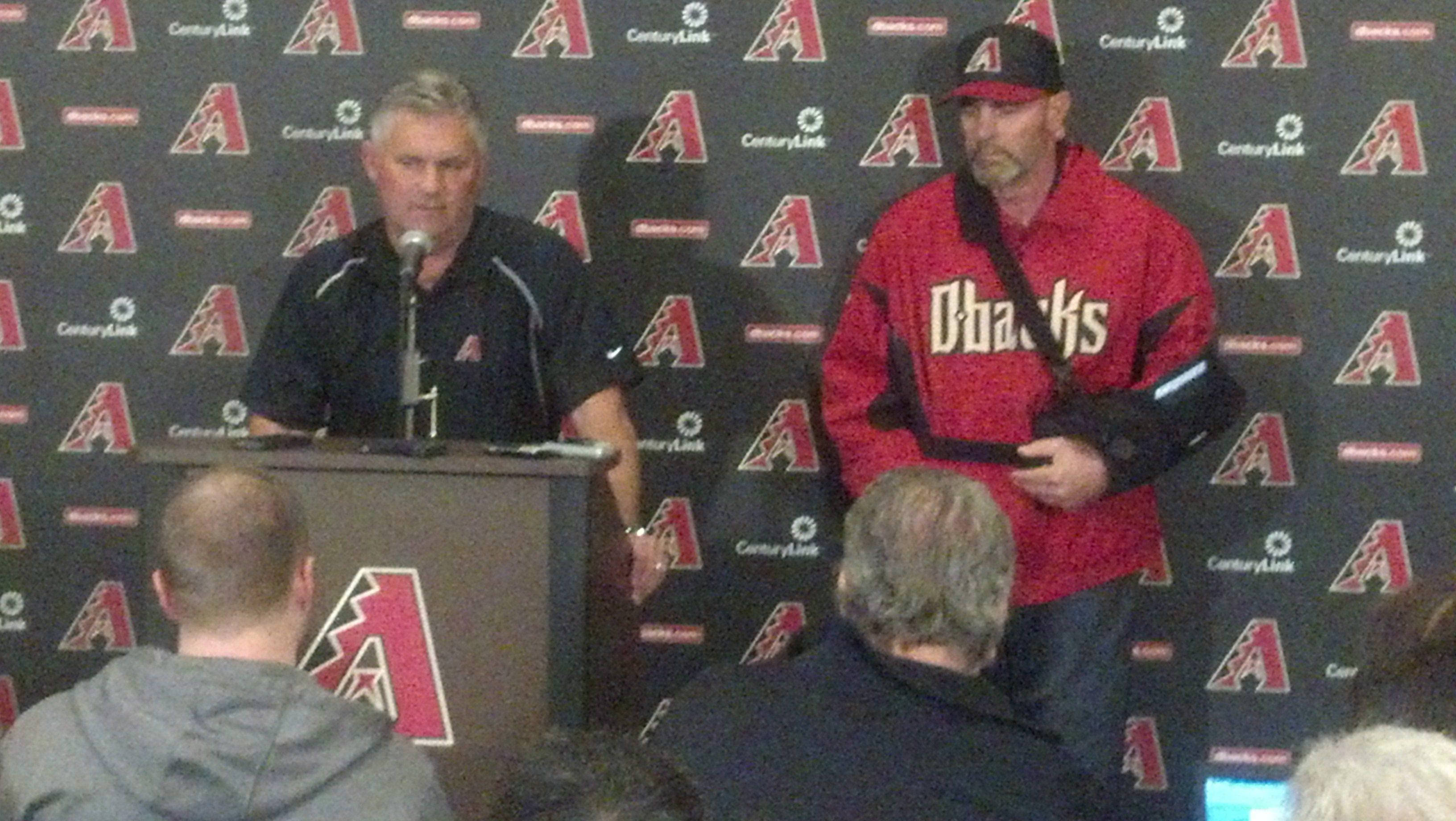 Diamondbacks news conference on Thursday morning (Photo credit: Daniel Westerhold, CBS 5 News)