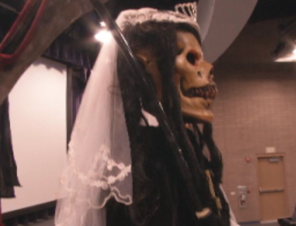 "(Source: CBS 5 News) ""La Santa Muerte"""
