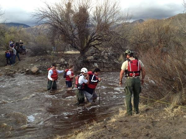 Forty to 50 adults and children were stranded. (Source: KOLD-TV)