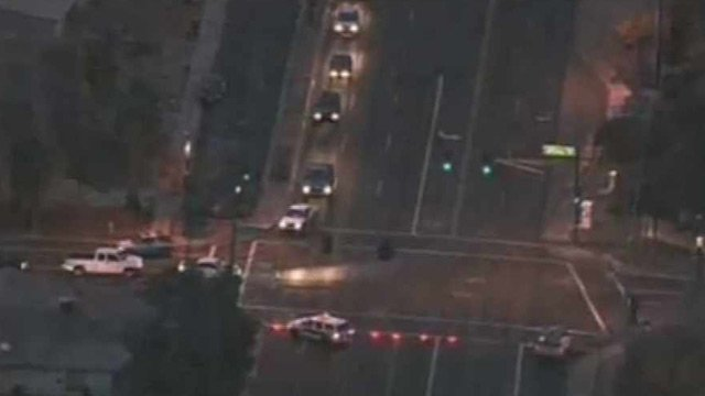 (Source: CBS 5 News) A pedestrian was struck and killed on Peoria Avenue in Phoenix early Monday morning.