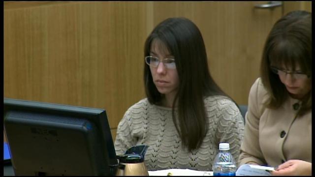 Jodi Arias during her trial in the death of her ex-boyfriend, Travis Alexander.