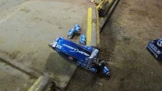 Beer cans spilled across the parking lot at the burglary scene. (Source: Pinal County Sheriff's Office)