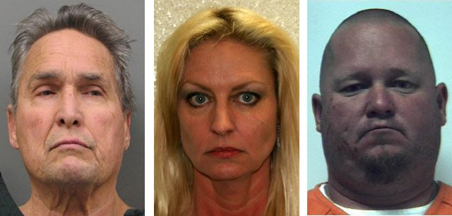From left, Charles Todd, Cynthia Mueller, Travis Northcutt. (Source: Prescott Police Department)