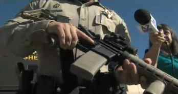 One of the assault rifles the sheriff is buying.