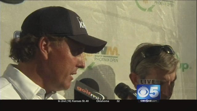Phil Mickelson at the Phoenix Open