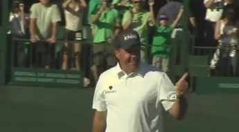 Phil Mickelson celebrating a victory