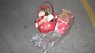 Valentine teddy bear basket seized (Source: Oregon State Police)