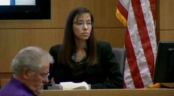 Jodi Arias during her third day on the witness stand.
