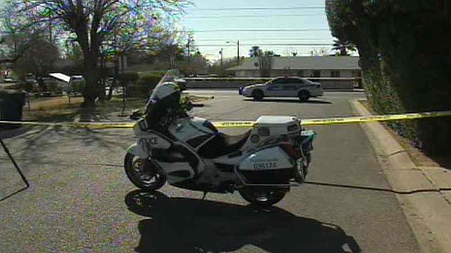 (Source: CBS 5 News) A man threatening suicide leveled his gun at Phoenix police officers and was shot to death outside a mental health facility Thursday morning.