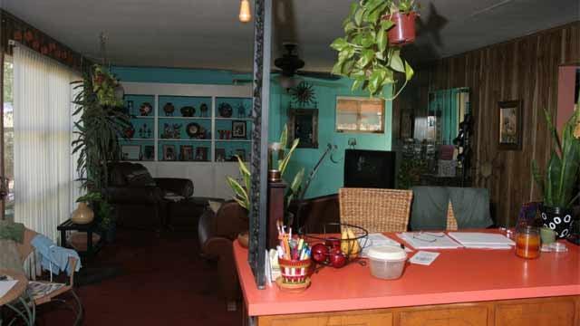 Inside Goudeau's home