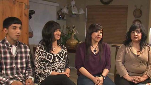 (Source: CBS 5 News) The children and sister of Sophia Nunez. From left, Gilbert Martinez, Krystal Gonzalez, Unique Martinez and Libby Nunez-Rocha.