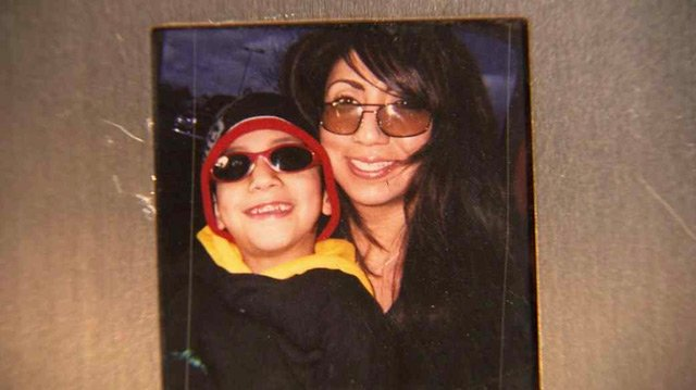 (Source: Martinez family) Sophia Nunez with her son, Gilbert.