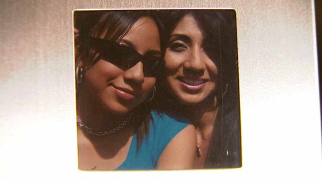 (Source: Martinez family) Unique poses for a photo with her mother, Sophia Nunez.