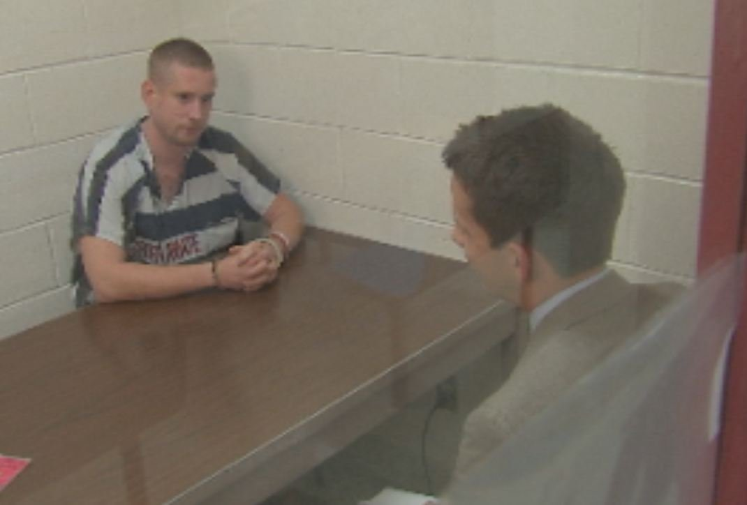  Joshua Bloom talks to CBS 5 reporter Greg Argos from jail about the chase.