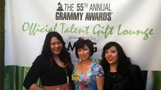 Cathy Garcia (middle) at the Grammy's