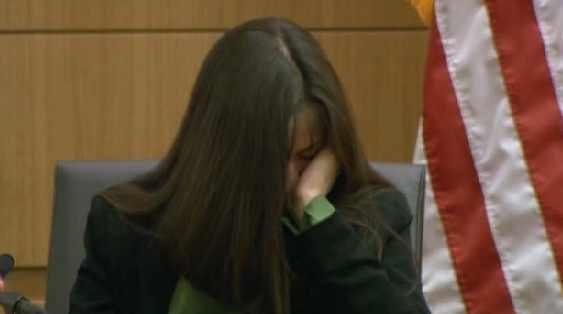 Jodi Arias in court Tuesday afternoon as her sex tape was played for the jury.