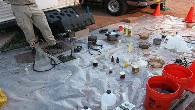 (Source: CBS 5 News) The Maricopa County Sheriff's Office said already this year, it has responded to about a dozen meth lab calls in Arizona.