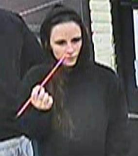 Surveillance image of suspect using stolen credit card. (Source: Silent Witness)