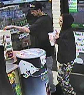 The suspects using the stolen credit card are different from those in the armed robbery. (Source: Silent Witness)