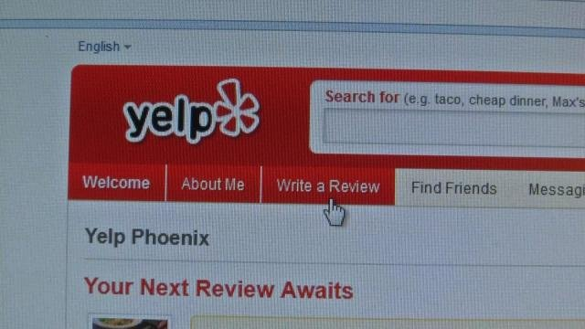 McConnell posted her review on Yelp. (Source: CBS 5 News)