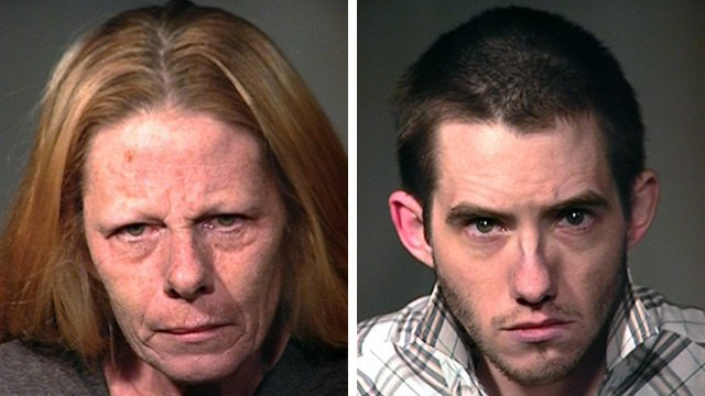 (Source: Chandler Police Department) Julie Wood, left, and her son, Jacob Arledge
