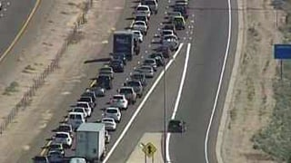Motorists flock to the Arizona Renaissance Festival.