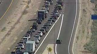 Motorists flock to the Arizona Renaissance Festival.