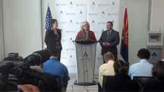 Gov. Jan Brewer makes the announcement on Tuesday.