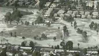 (Source: CBS 5 News) Graupel on the ground at 15th Avenue and Rose Lane in Phoenix.