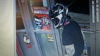 The robber wore a motorcycle helmet. (Source: Yavapai County Sheriff's Office)