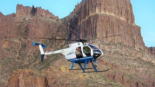 (Source: Pinal County Sheriff's Office file photo) A search and rescue helicopter flew a missing hiker to a waiting ambulance Wednesday night.