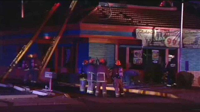 (Source: CBS 5 News) A fire forced the evacuation of a Julioberto's restaurant in Phoenix early Friday morning.