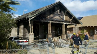 (Source: Boe Baker, cbs5az.com) The home that caught fire is a total loss.