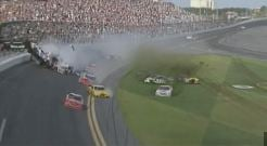 Saturday crash at Daytona