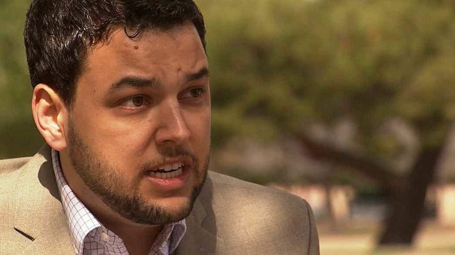 Aaron Baer, of the conservative Center for Arizona Policy, says the policy changes would infringe on the religious freedoms of Phoenix residents. (Source: CBS 5 News)